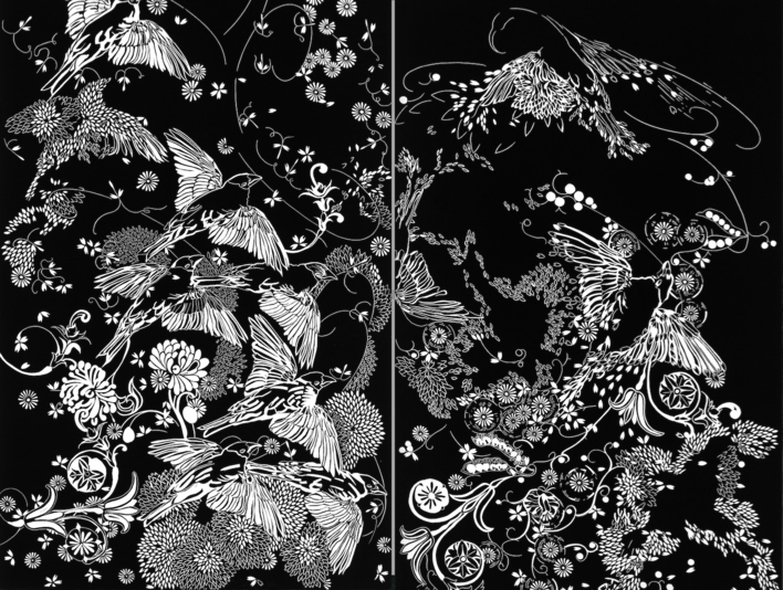 Spring I and II - diptych