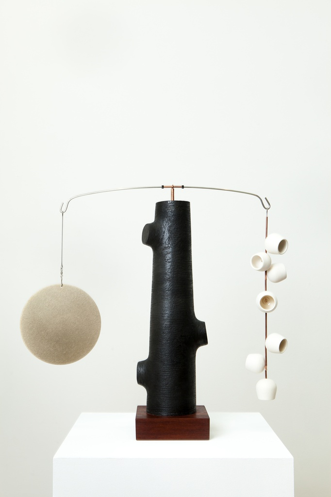 Counterbalance - White Pods with Brass Disc #1
