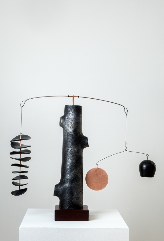 Counterbalance - Black Leaves and Pod with Copper Disc #1